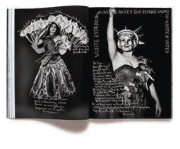 Doble página sobre Astrid Hadad en el volumen H.