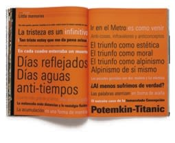 Doble página realizada por Luis Gordillo en el volumen D.